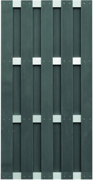JINAN-Serie anthrazit 90 x 180 cm, WPC-Bretterzaun Querriegel ALU anodisiert