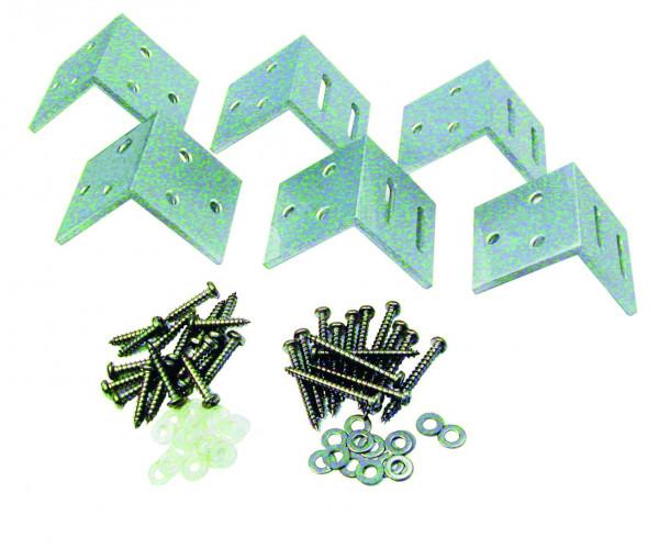 MALÖ-Serie Befestigungs-Set Paket mit 6 Winkeln, SILBER #KA100