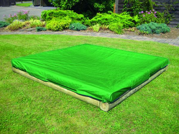 Sandkastenabdeckung, PE Gewebeplane 140g/m², grün, mit elastischer Kordel B 225 x T 225 cm, # 1040